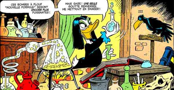 Miss Tick avec son corbeau Algorab